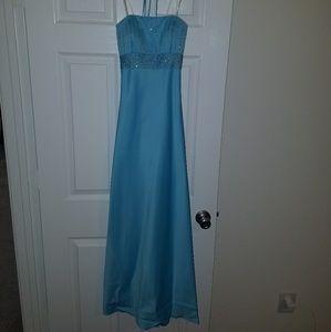 Blue Full Length Gown